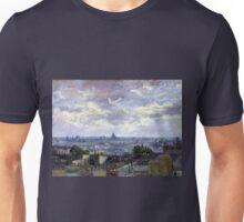 Vincent van Gogh View of Paris Unisex T-Shirt