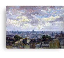 Vincent van Gogh View of Paris Canvas Print