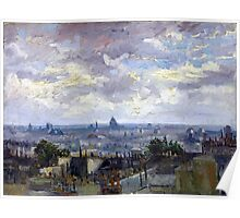 Vincent van Gogh View of Paris Poster