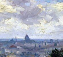 Vincent van Gogh View of Paris Sticker