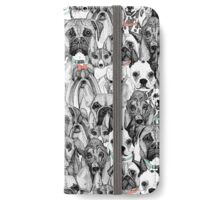 just dogs coral mint iPhone Wallet/Case/Skin