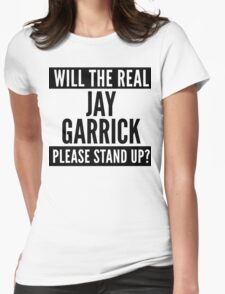 Will The Real Jay Garrick Please Stand Up? Womens Fitted T-Shirt