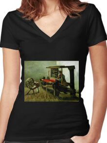 Vincent van Gogh Weaver Women's Fitted V-Neck T-Shirt
