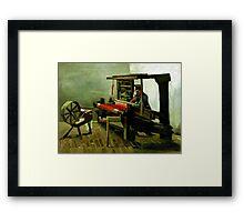 Vincent van Gogh Weaver Framed Print
