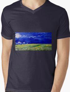 Vincent van Gogh Wheatfield under Thunderclouds Mens V-Neck T-Shirt