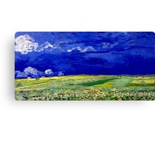 Vincent van Gogh Wheatfield under Thunderclouds Canvas Print