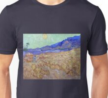Vincent van Gogh Wheatfield with a Reaper Unisex T-Shirt