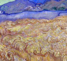 Vincent van Gogh Wheatfield with a Reaper Sticker