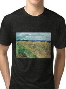 Vincent van Gogh Wheatfield with Cornflowers Tri-blend T-Shirt