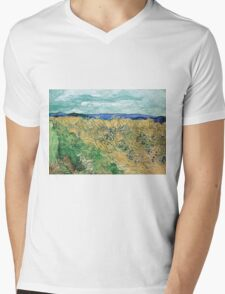 Vincent van Gogh Wheatfield with Cornflowers Mens V-Neck T-Shirt