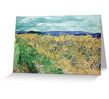 Vincent van Gogh Wheatfield with Cornflowers Greeting Card