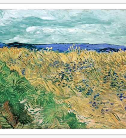 Vincent van Gogh Wheatfield with Cornflowers Sticker