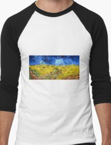 Vincent van Gogh Wheatfield with Crows Men's Baseball ¾ T-Shirt