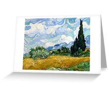 Vincent van Gogh Wheatfield with Cypresses Greeting Card