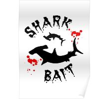 Hammerhead Shark Bait Blood Splat Large Poster