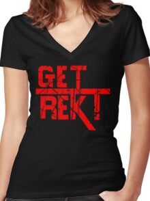 Rekt - ONE:Print Women's Fitted V-Neck T-Shirt