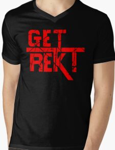 Rekt - ONE:Print Mens V-Neck T-Shirt