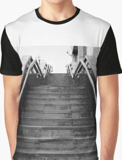 A Set Of Black And White Marble Stairs Graphic T-Shirt