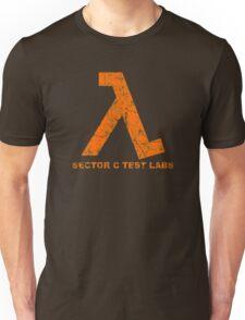 Lambda Orange Grunge Unisex T-Shirt