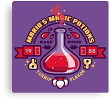 Mario's Magic Potions Canvas Print