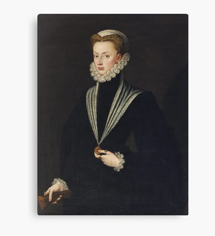 Sofonisba Anguissola (ca. ), Portrait of Archduchess Johanna of Austria Canvas Print