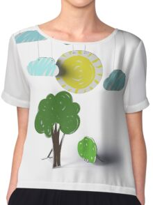 Sunny Day 3D Paper Craft Chiffon Top