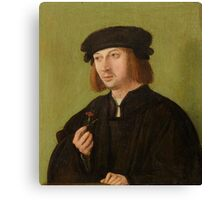SOUTH GERMAN MASTER, CIRCA Portrait of a young man, holding a carnation. Canvas Print