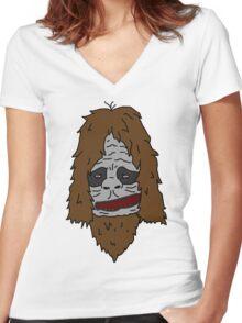 Sassy the Sasquatch - Colour Women's Fitted V-Neck T-Shirt
