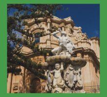 Noto Sicilian Baroque - Church of San Domenico on a Bright Sunny Day Kids Tee