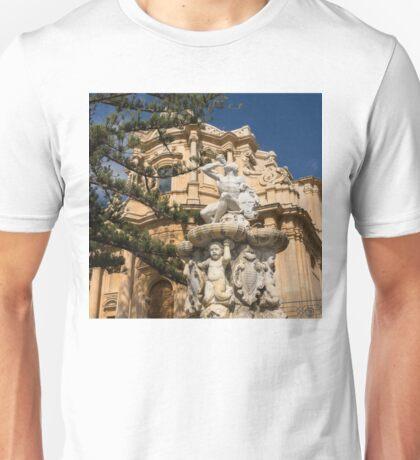 Noto Sicilian Baroque - Church of San Domenico on a Bright Sunny Day Unisex T-Shirt