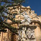 Noto Sicilian Baroque - Church of San Domenico on a Bright Sunny Day by Georgia Mizuleva