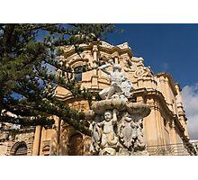 Noto Sicilian Baroque - Church of San Domenico on a Bright Sunny Day Photographic Print