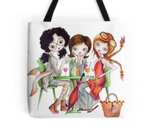 Together with girlfriends in the city... Tote Bag