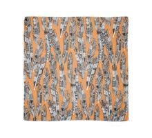 geo feathers orange Scarf