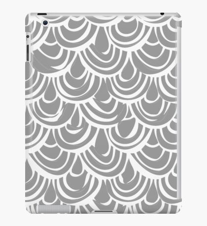 monochrome scallop scales iPad Case/Skin