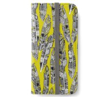 geo feathers chartreuse iPhone Wallet/Case/Skin