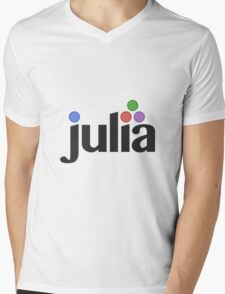 Julia programming language Mens V-Neck T-Shirt
