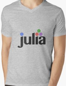 Julia programming language Mens V-Neck T-Shirt