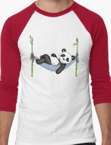 iPod Panda Men's Baseball ¾ T-Shirt