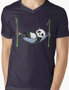 iPod Panda Mens V-Neck T-Shirt