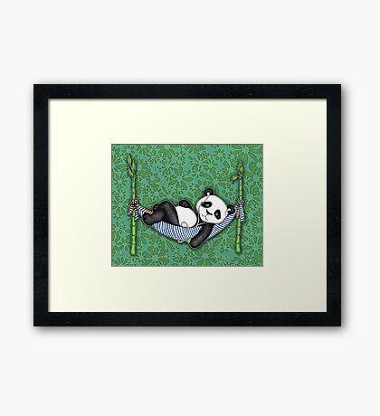 iPod Panda Framed Print
