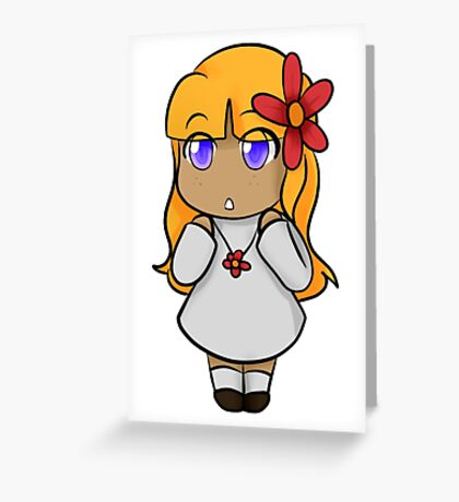 Helia Chibi Greeting Card