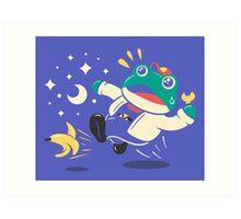 Slipping Toad Art Print