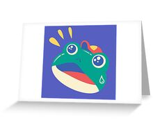 Slipping Toad head Greeting Card