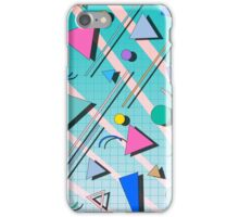 80s pop retro pattern 4 iPhone Case/Skin