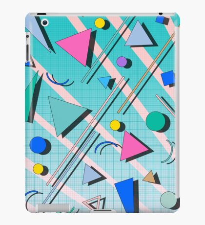 80s pop retro pattern 4 iPad Case/Skin