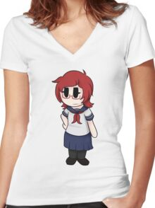 Info-Chan Women's Fitted V-Neck T-Shirt