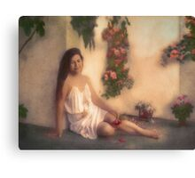 A rose amongst the flowers Canvas Print