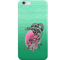 Wiggly Armed Jungle Sloth  iPhone Case/Skin