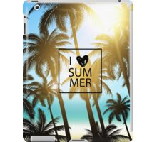 I love summer design with palms and ocean view. iPad Case/Skin